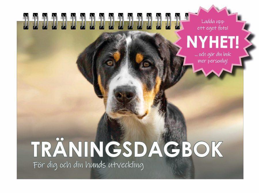 Omslag personligt till Träningsdagboken hund